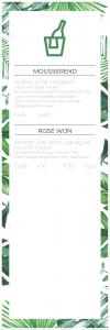 Drankenkaart - Mousserend en Rosé